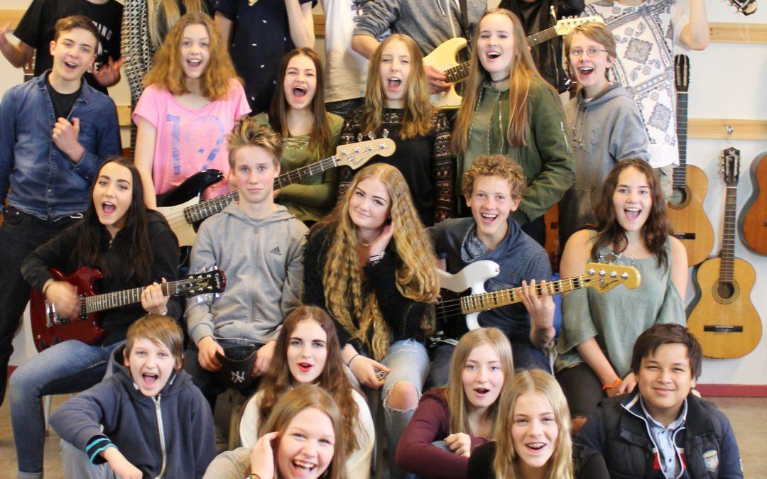 Hjälmstaskolans musikklass ❤️